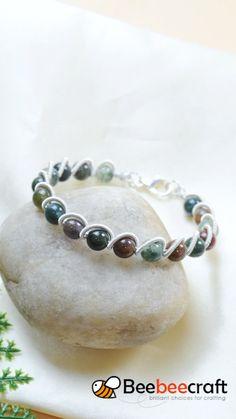 Wire Jewelry Designs, Handmade Wire Jewelry, Diy Crafts Jewelry, Bracelet Crafts, Beaded Jewelry Patterns, Diy Jewelry Videos, Diy Bracelets Easy, Handmade Bracelets, Making Bracelets