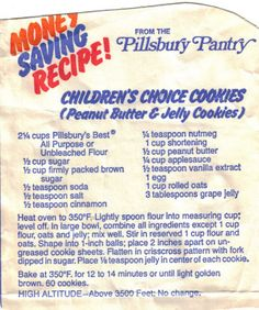 pillsbury peanut butter bars: