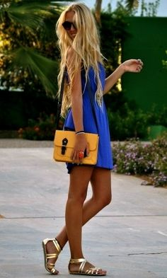 Love the color of the dress and the shoes