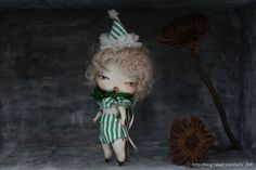 Moon foreast Elf / Bisque, silk / 15Cm / seradoll