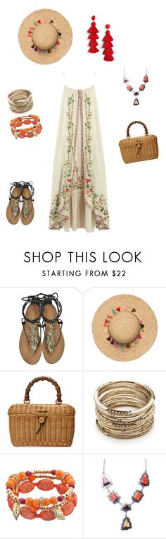 """бохо лето"" by sorokina-d on Polyvore featuring Roberto Cavalli, Gucci, Sole Society and BaubleBar"