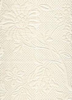 """For Petticoat P Kaufmann Chalet Matelasse Oyster Item #: 1594  Price: $46.95 per yard Thick and soft upholstery weight matelasse with a beautiful floral design. 28"""" vertical, 14"""" horizontal repeat. 54"""" wide."""