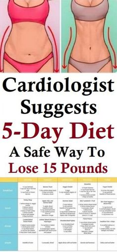 Cardiologist Suggests Diet: A Safe Way To Lose 15 Pounds The 5 day d. - Cardiologist Suggests Diet: A Safe Way To Lose 15 Pounds The 5 day diet is very simple - Diet Food To Lose Weight, Weight Loss Tips, How To Lose Weight Fast, Free Weight Loss Programs, Diet And Nutrition, Health Diet, Paleo Diet, 5 Day Diet, One Month Diet Plan
