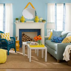Bring color and freshness in the living room