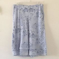 Totally cute Anne Taylor Loft skirt still available in my EBay store. Just look for SixthandDurian.  Size 6. #eBay #fashion #blue #skirt #size6 #annetaylor #annetaylorloft