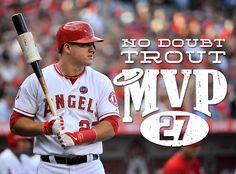 Fanartikel Mlb Baseball T-shirt Los Angeles La Angels Mike Trout 27 Shades Victory Schwarz