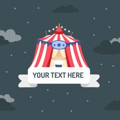 Circus tent background Free Vector