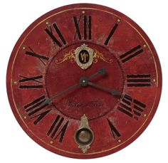 "Villa Tesio 31"" Gallery Clock. Maker Name: Timeworks VT31IP. Reg Price $425. Sale: $299. A clock similar to my large red clock!"