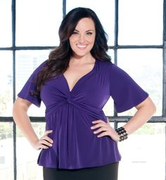 Kiyonna Clothing Plus Size Abby Twist Front Top
