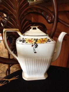 Floral Shabby Chic Coffee or Tea Pot by TheFlyingHostess on Etsy, $11.50