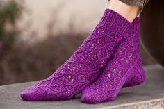Cascade Heritage Hourglass Lace Socks