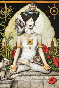 Serenite (Serenity) by Sophie Wilkins - canvas print