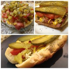 Have you tried a Chicago style hot dog? It's actually a healthy hot dog option as it's covered with veggies!!