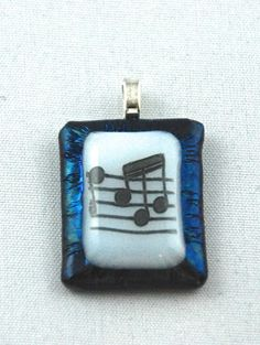 Music notes glass pendant by LifesongArtandPhoto on Etsy, $12.00