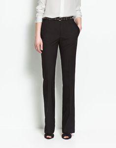 WIDE HEM TROUSERS - Trousers - Woman - ZARA