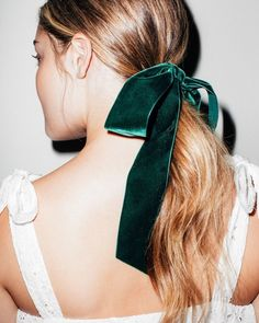 """7,779 Likes, 40 Comments - LaurenConrad.com (@laurenconrad_com) on Instagram: """"#NYE, we're ready for you! this ponytail tied up in emerald velvet is giving us all the beauty…"""""""