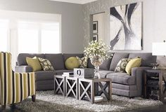 available in leather Custom-Designed-L-Shaped-Upholstered-Sectional