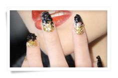 """Caviar Talons,  the best way say """"no dishes tonite""""   10 Best Nail Art Ideas from Fashion Week"""