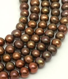 "Chocolate Pearls Product | ... > Gemstone Beads > Pearls > Chocolate Pearls approx. 6x7mm 16"" Str"