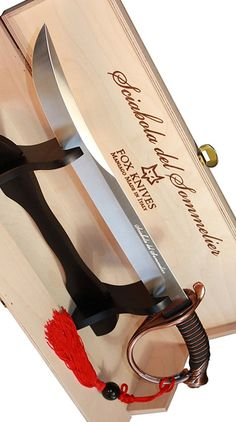Fox Knives Maniago, Italy Sciabola del Sommelier (Bronze) Champagne Sabre
