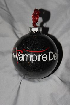 A must have Christmas ornament for the Vampire Diaries fans! Custom Vampire Diaries Glitter Christmas by HolidayBaubles1