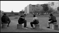 """LA HAINE, 1995 """"Heard about the guy who fell off a skyscraper? On his way down past each floor, he kept saying to reassure himself: So far so good… so far so good… so far so good. How you fall doesn't matter. It's how you land! """" by Hubert Lords Of Dogtown, La Haine Film, Aldo Van Eyck, Umbrellas Of Cherbourg, Rock Band Photos, Language And Literature, Movie Shots, Film Grab, Film Inspiration"""