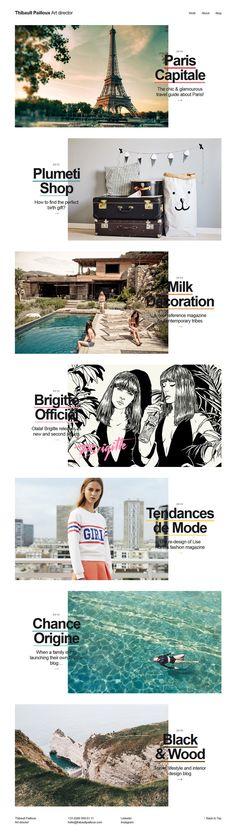 Thibault Pailloux, minimal creative design website, example http://www.thibaultpailloux.com/