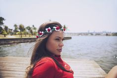 I work with lovely ladies. #model #photoshoot #flowers #flowerwreath