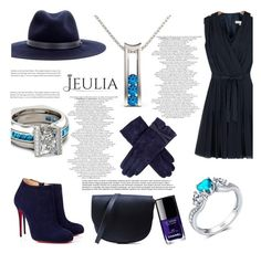 """""""Jeulia - Blue Elegance"""" by smasy ❤ liked on Polyvore featuring Christian Louboutin, Sophie Hulme, Dents, rag & bone, Chanel, women's clothing, women's fashion, women, female and woman"""