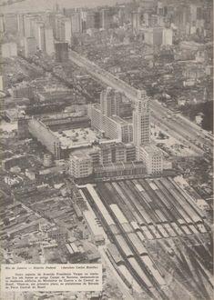 : Estação Dom Pedro II nos anos 1950 (IBGE: Enciclopedia dos Municípios Brasileiros, 1960).