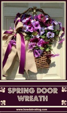 Spring Door Wreath with Bowdabra bow - DIY Tutorial