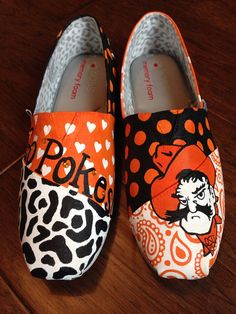Custom Hand Painted BOBS- Oklahoma State University on Etsy, $120.00