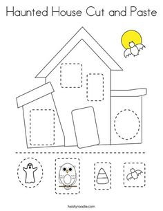 Trace and color the haunted house Coloring Page - Twisty ...