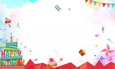 Diseño del panel de tema cumpleaños Happy Birthday Theme, Birthday Board, Happy Birthday Cards, Birthday Greeting Cards, Birthday Cake, Balloon Design For Birthday, Birthday Background Design, Birthday Balloons, Cake Background