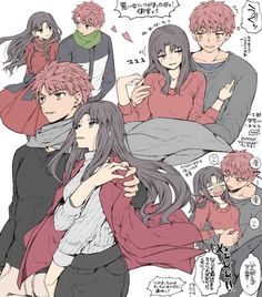 Billedresultat for shirou x rin Chica Anime Manga, Anime Couples Manga, Cute Anime Couples, Fate Stay Night Rin, Fate Stay Night Series, Fate Archer, Konan, Fate/stay Night, Type Moon Anime