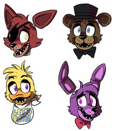 "fnaf fan art | FNAF headshots by Z0MBIG00IE on deviantART. Well, who else immediately thought at the word. Headshot. ""BOOOOMMM HEADSHOT"".?"