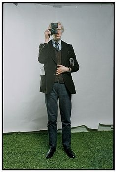 Andy Warhol, New York City, 1976, photo by Annie Leibovitz.