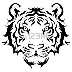 Resultado de imagen para tiger tattoo black and white …