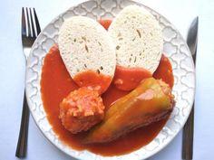 Plnená paprika, Hlavné jedlá, recept | Naničmama.sk Czech Recipes, Ethnic Recipes, Pork Recipes, Healthy Recipes, Healthy Meals, Main Meals, Entrees, Sausage, Curry