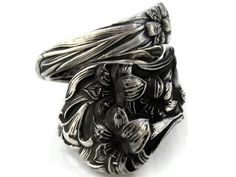 Sterling Silver Spoon Ring Size 7-10 Lily By Watson