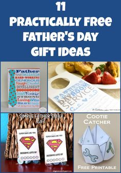 So many great low cost Father's Day ideas here! Loving practically free gifts. #fathersday