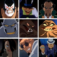 Let's see.... uhhhh..... Bane, Mad Hatter, Ra's al Ghul, Solomon Grundy (maybe), Man-Bat, Clayface, Talia al Ghul (maybe), Hugo Strange, and Scarface and the Ventriloquist. Oh my. I know the obscure ones and I haven't even seen the series. >.>