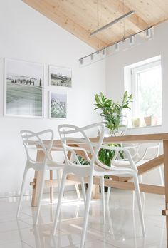 dining room #kartell #chair #open #apartment