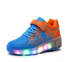 Wheelies Schuhe Mit Rollen Und Licht Blau Damen