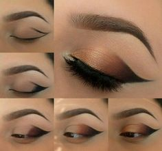 Step by step eye-shadow for brown eyes