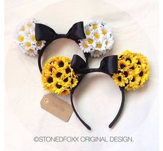 Floral Minnie Mouse ears