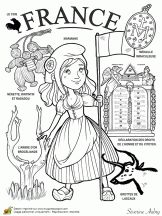"""iColor """"Little Kids Around The World"""" ~ France Around The World Theme, Kids Around The World, Colouring Pages, Coloring Books, World Thinking Day, World Geography, World Cultures, In Kindergarten, Adult Coloring"""