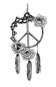 I'm not big on dream catcher tattoos, but I love the peace sign..