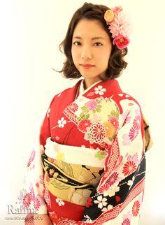 成人式のヘアメイク  http://www.b2c.co.jp/seijinn/index.htm KIMONO
