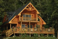 This cabin design floor plan is 1370 sq ft and has 3 bedrooms and has 2 bathrooms. A Frame Cabin, A Frame House, Cabin Homes, Log Homes, Log Cabin Modular Homes, Patio Grande, Cabin Floor Plans, Log Cabin House Plans, Cabin Plans With Loft